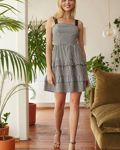 Sivé šaty Trendyol
