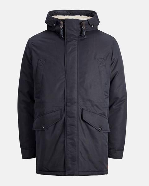Tmavomodrá zimná bunda Jack & Jones
