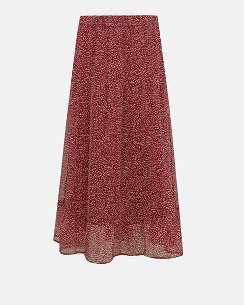 Červená sukňa Vero Moda