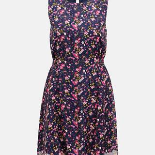 Tmavomodré kvetované šaty VERO MODA Vilde