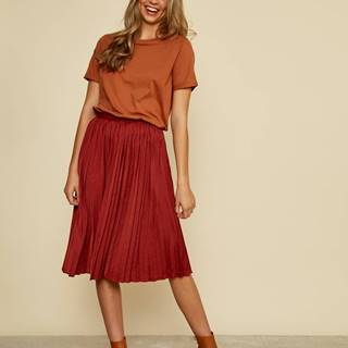 Tehlová plisovaná sukňa ZOOT Petra