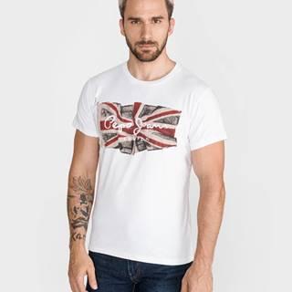 Pepe Jeans Flag Tričko Biela