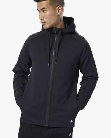 Čierna bunda s kapucňou Reebok