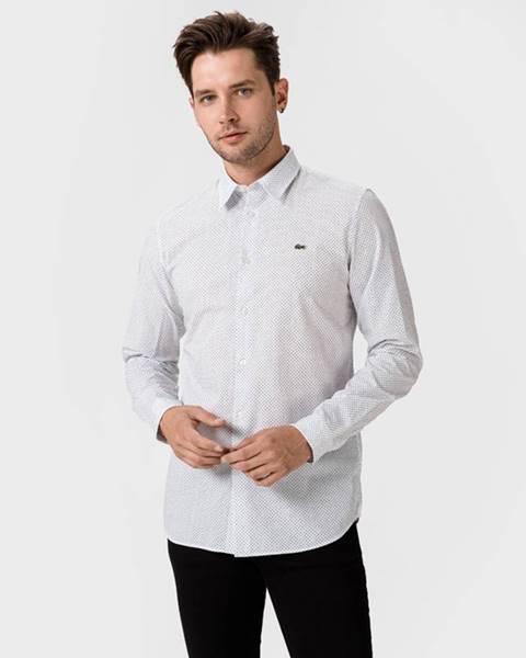 Biela košeľa Lacoste
