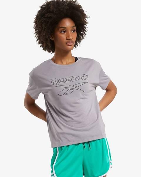 Sivé tričko Reebok