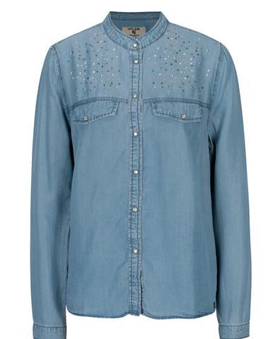b5481760af63 Modrá dámska košeľa s aplikáciou Garcia Jeans