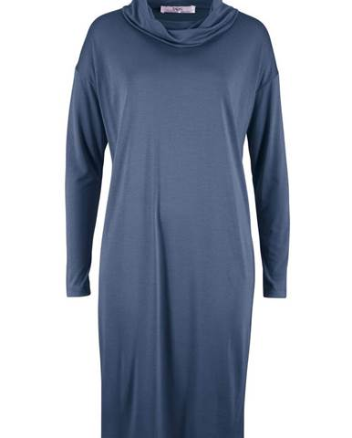 fec70aa33037 Úpletové šaty s rolákovým golierom