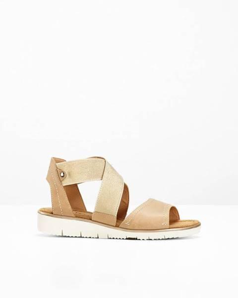 Pohodlné kožené sandále