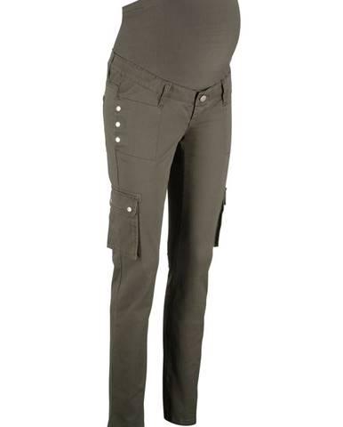 Materské nohavice, rovné, s kapsáčovými vreckami