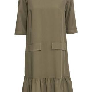 Šaty s kontrastnými švíkmi