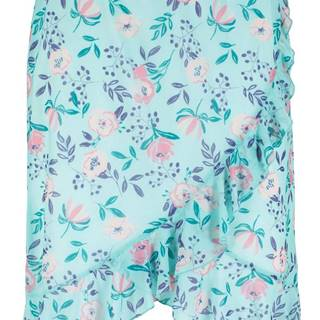 Sieťovinová sukňa s kvetovanou potlačou