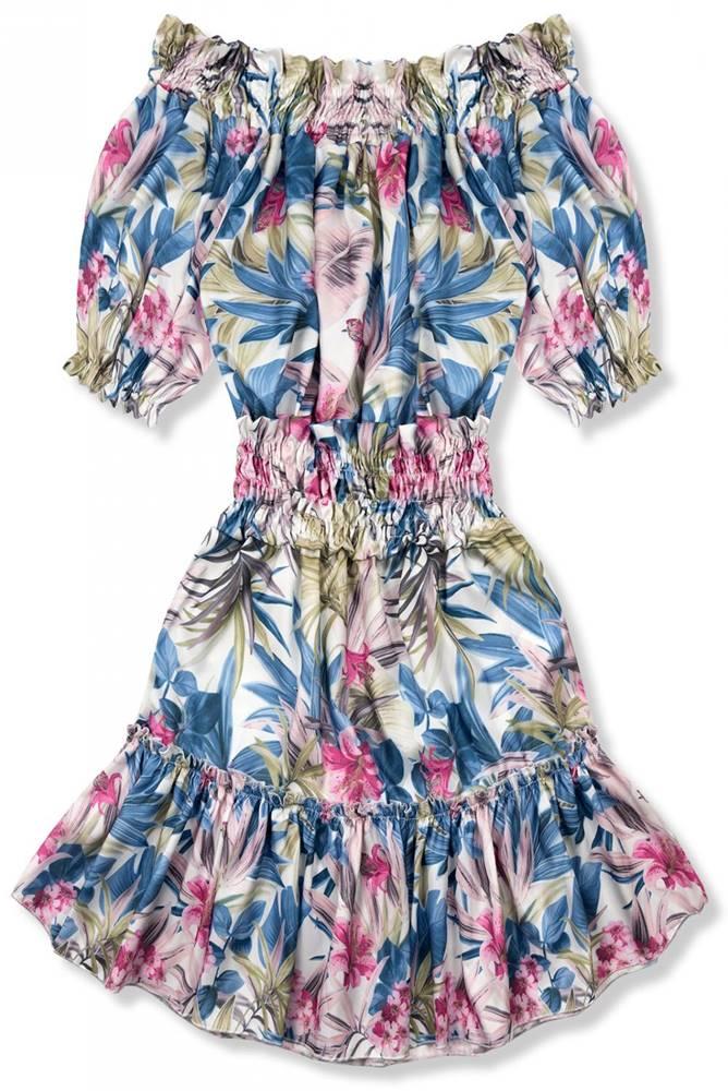 Modro-ružové šaty Serena/O&...