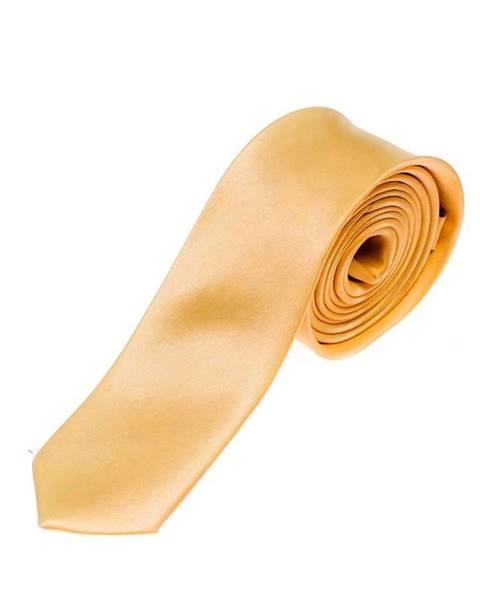Oranžová pánska elegantná kravata