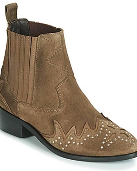 Hnedé topánky Pepe jeans