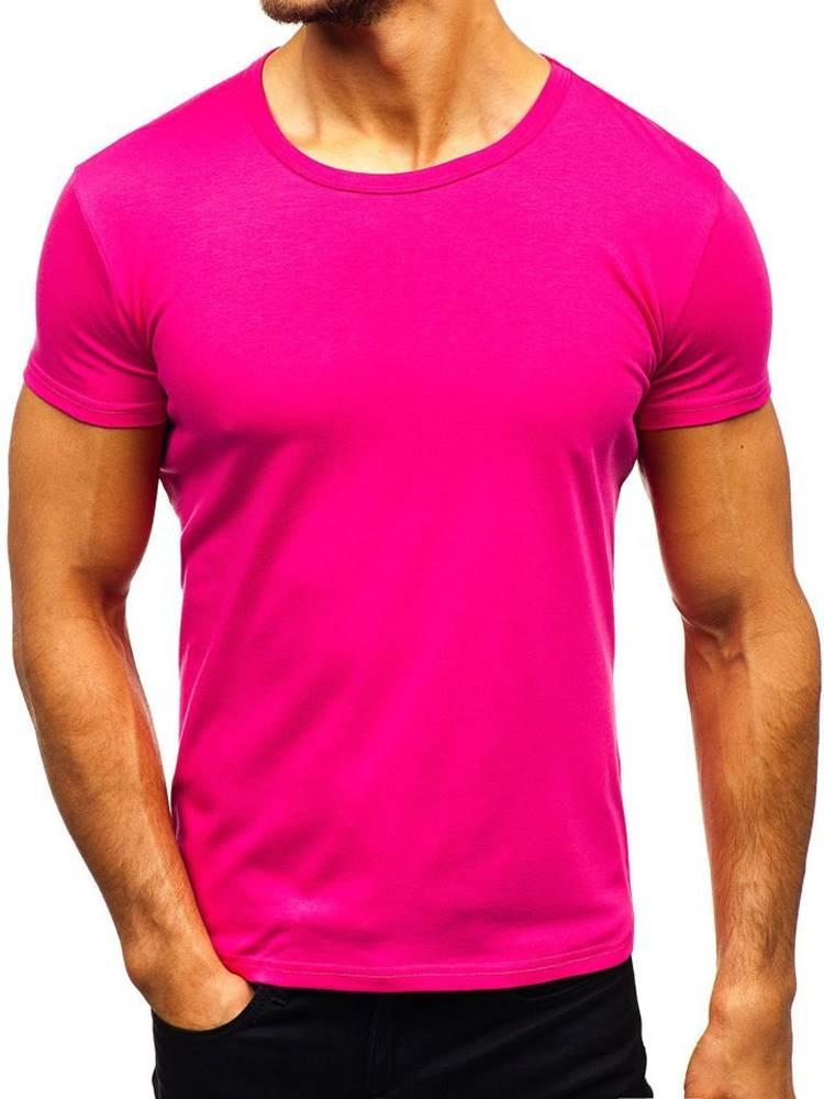 Tmavoružové pánske tričko b...