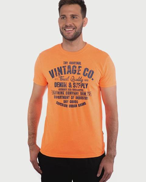 Oranžové tričko SAM 73