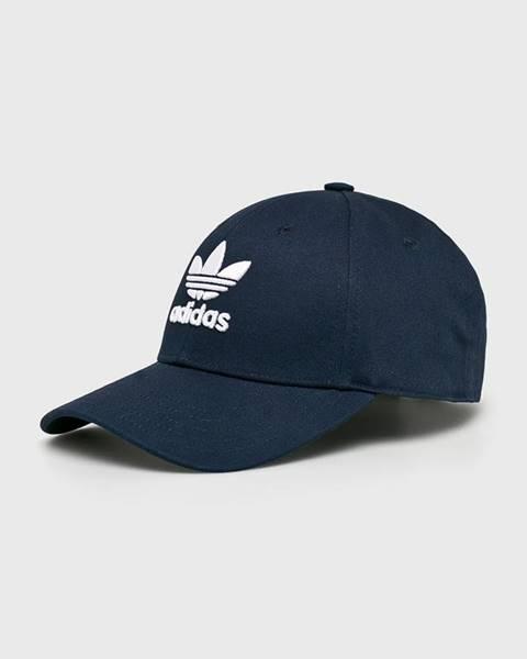 Tmavomodrá čiapka adidas Originals