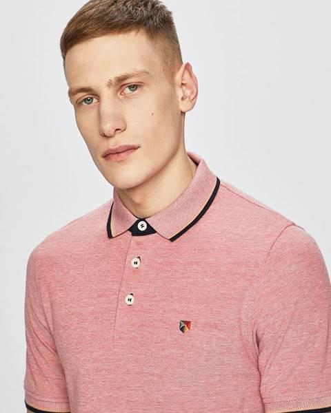 Ružové tričko Premium by Jack&Jones