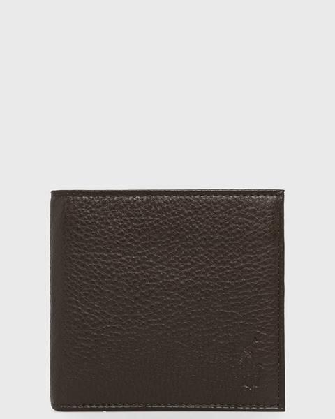 Hnedá peňaženka Polo Ralph Lauren