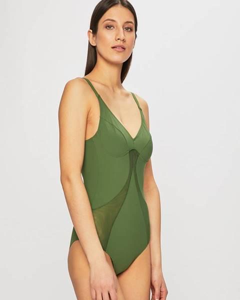 Zelené jednodielne plavky Triumph