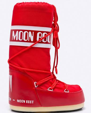 Červené zimná obuv Moon Boot