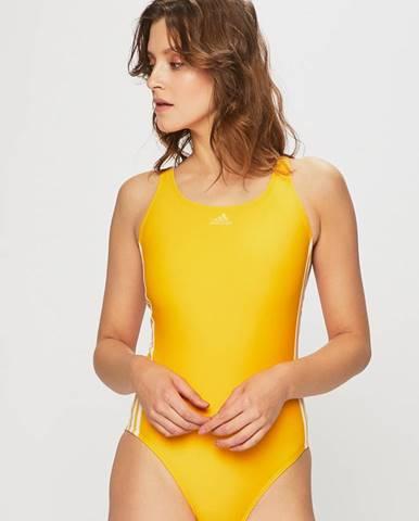 Žlté jednodielne plavky adidas Performance
