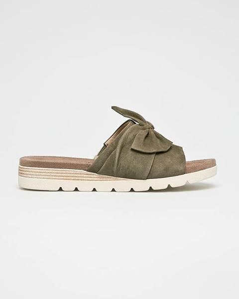 Zelené sandále Caprice
