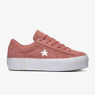 Topánky Converse One Star Platform Seasonal Suede Růžová