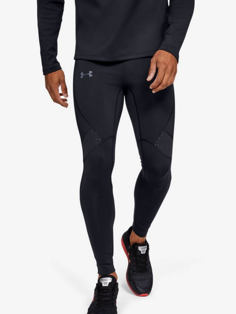 Under Armour Kompresné legíny Under Armour Qualifier Coldgear Tight-Blk Čierna