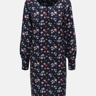 Tmavomodré kvetované šaty Tom Tailor