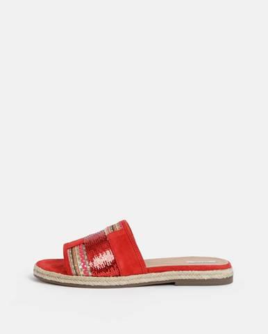 Červené papuče Geox