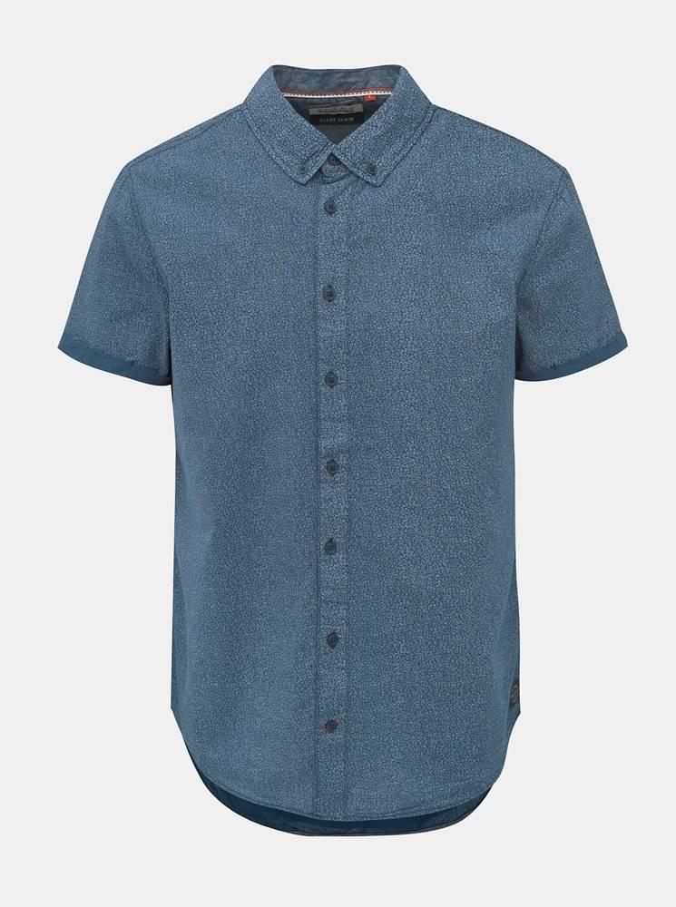 Blend Modrá vzorovaná slim fit košeľa Blend