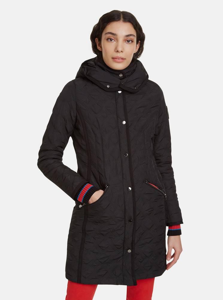 Desigual Čierny prešívaný kabát Desigual Leicester