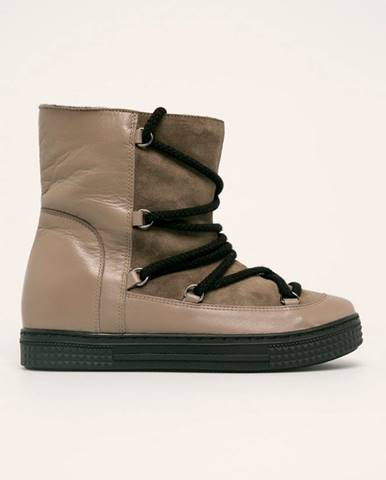 Sivé zimná obuv Solo Femme