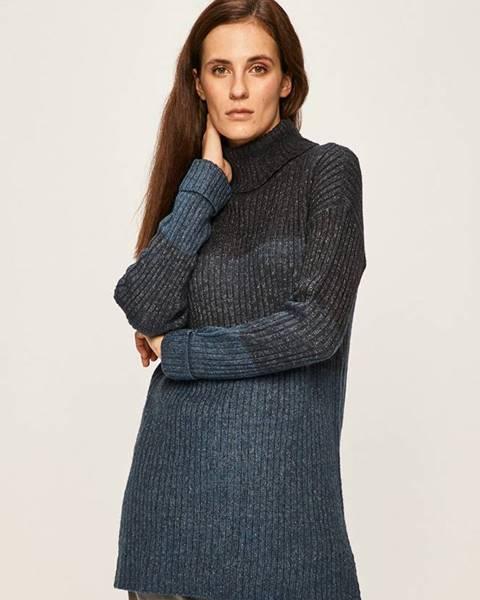 Tmavomodrý sveter Jacqueline de Yong