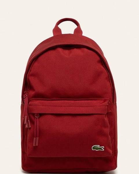 Červený batoh Lacoste