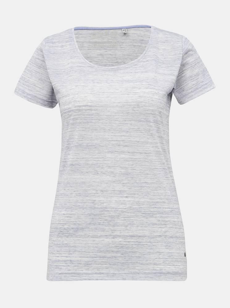Šedé dámske basic tričko ki...