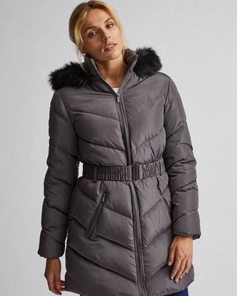 Sivý kabát Dorothy Perkins