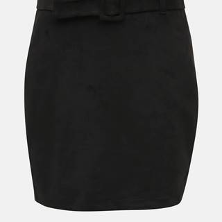 Čierna sukňa v semišovej úpravej  VERO MODA Chili