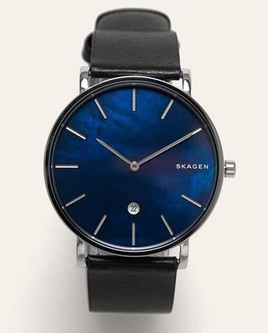 Čierne hodinky Skagen