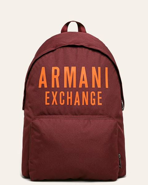 Burgundský batoh Armani Exchange