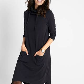 Šaty s rolákom a vreckami, loose fit