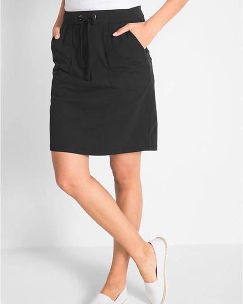 bonprix Strečová sukňa so šnúrkou