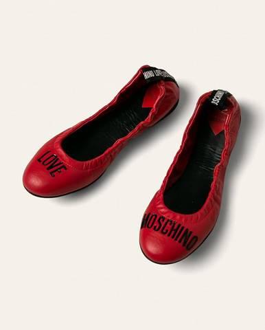 Červené balerínky Love Moschino