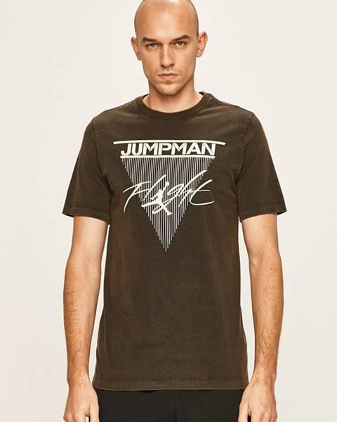 Hnedé tričko Jordan
