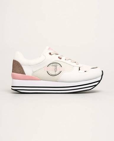 Biele topánky Trussardi Jeans