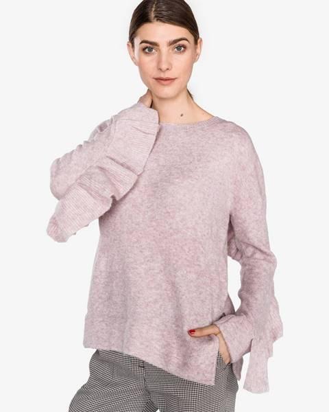 Béžový sveter s okrúhlym výstrihom French Connection