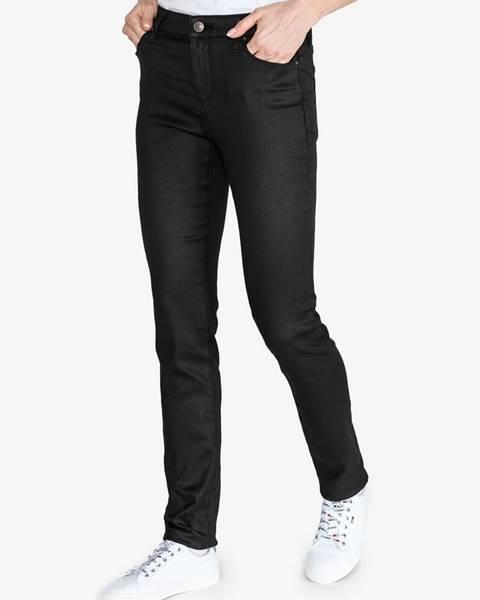 Čierne skinny nohavice Armani Exchange