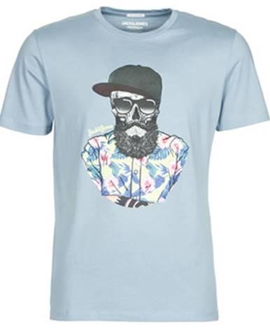 Modré tričko Jack   Jones