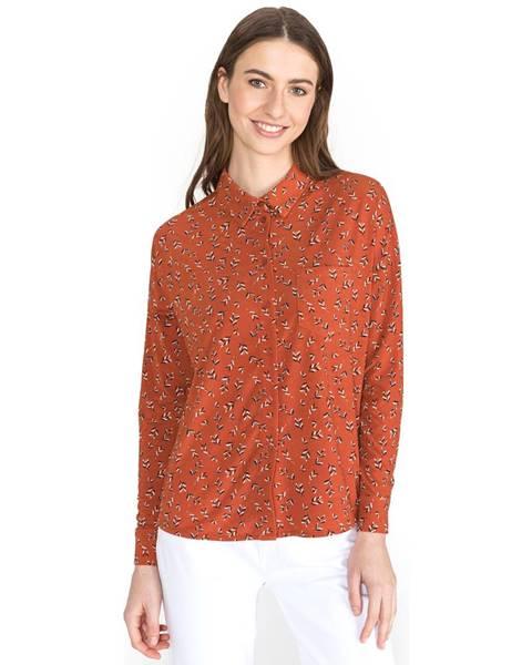 Oranžová košeľa Vero Moda
